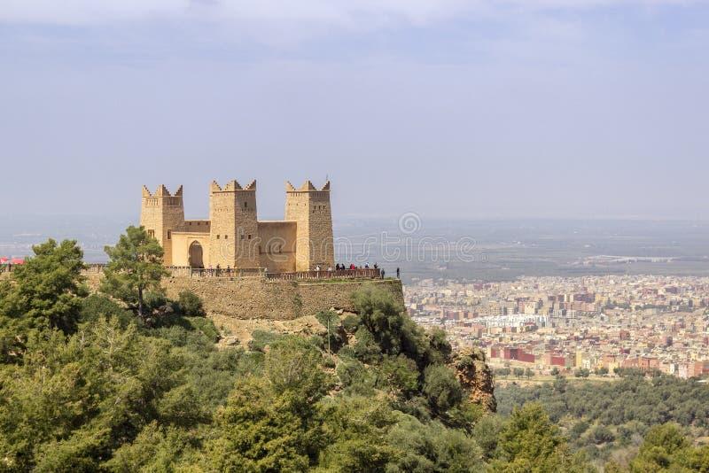 A fortaleza nomeou Kasbah Ras el-Ain, em Asserdoun, Beni Mellal fotos de stock