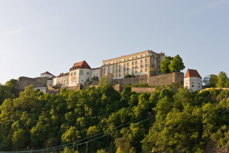 Fortaleza Oberhaus Passau imagem de stock