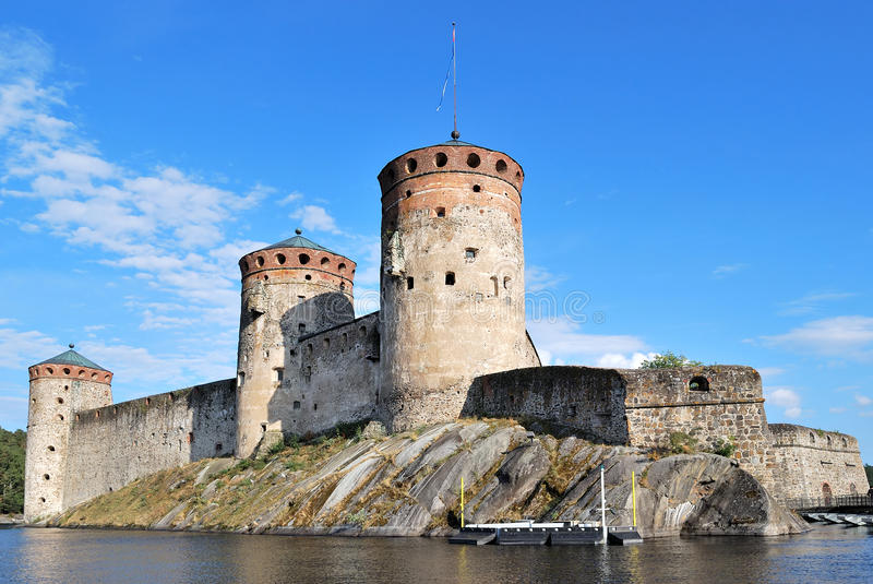 Fortaleza Olavinlinna fotografía de archivo