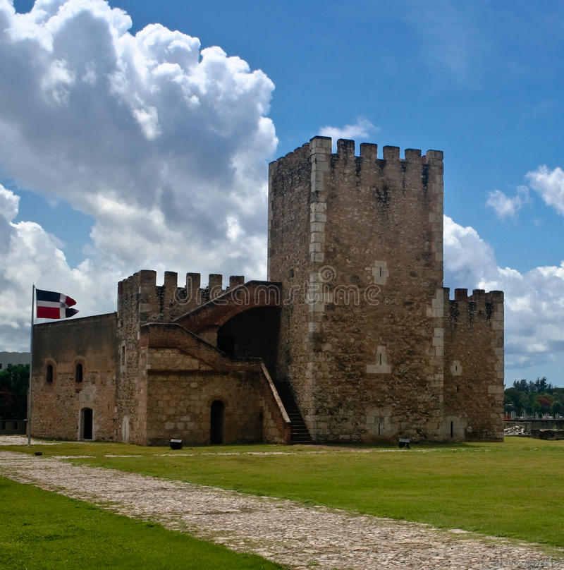 Fortaleza Ozama. Fortress in Santo Domingo, Dominican Republic royalty free stock images