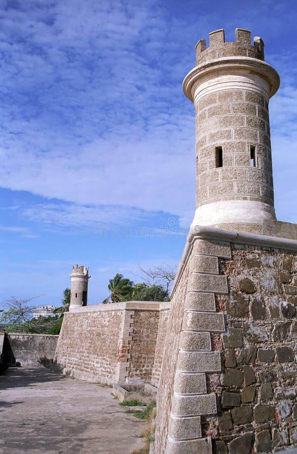 Fortaleza, Pampatar, Venezuela foto de archivo