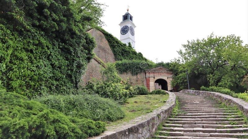 Fortaleza Petrovaradin, Novi Sad Serbia foto de archivo
