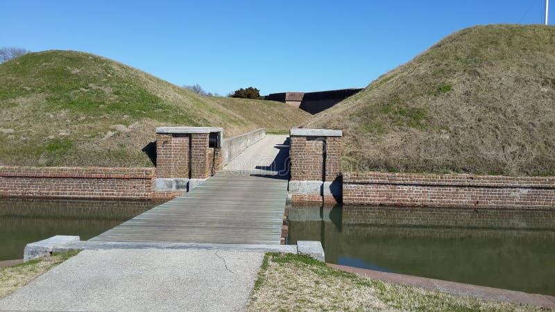 Fortaleza Pulaski Georgia foto de archivo