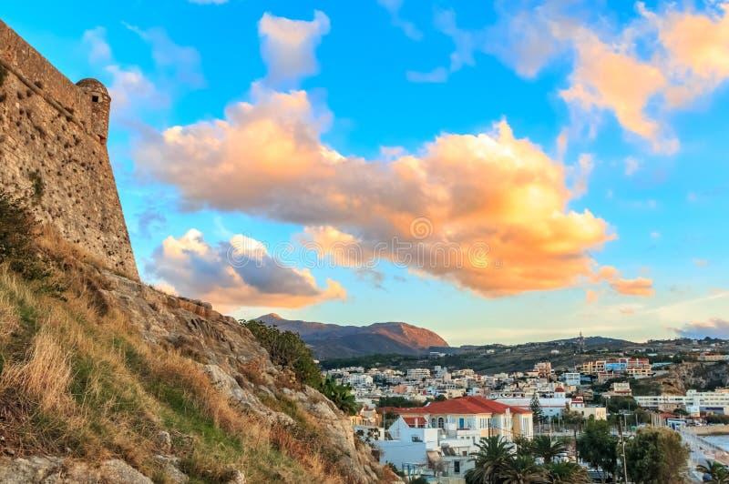 Fortaleza Rethymno do porto fotografia de stock