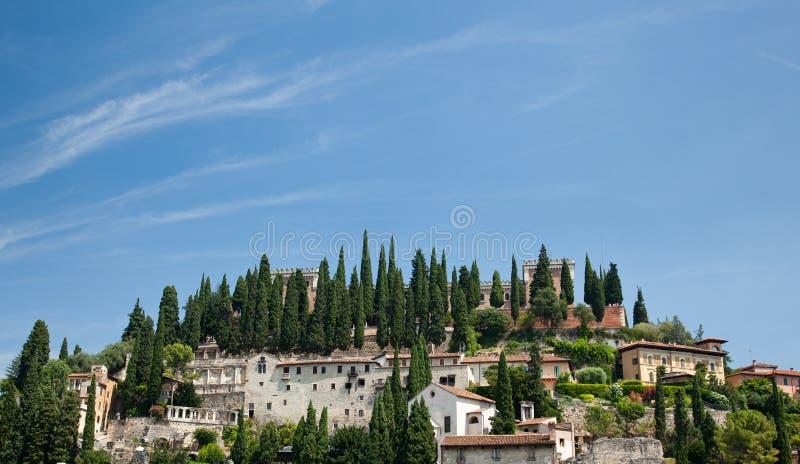 Fortaleza romana sobre Verona fotografía de archivo