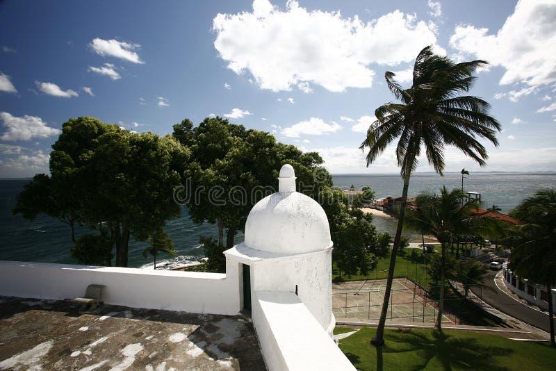 Fortaleza Salvador Bahía del serrat de Mont fotografía de archivo