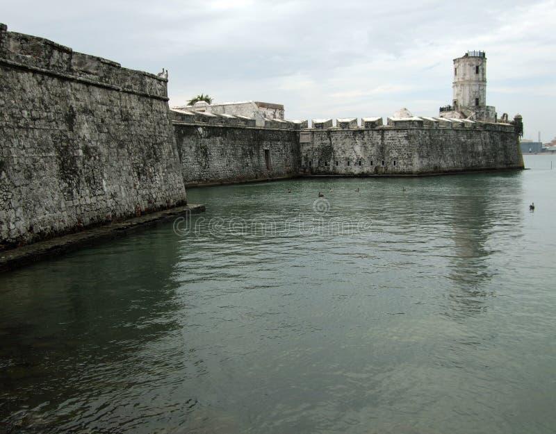 Fortaleza San Juan De Ulua-México foto de archivo