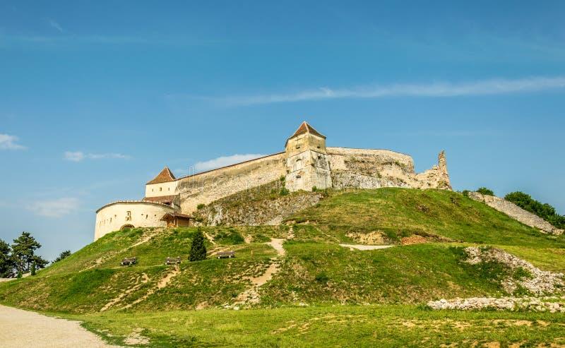 Fortaleza saxona medieval Rasnov A Transilvânia, Romania imagem de stock royalty free