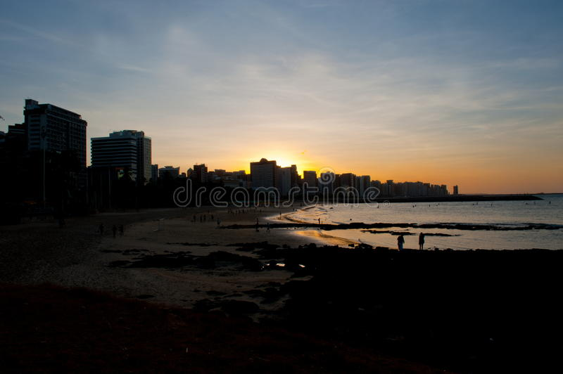 Fortaleza. Sunset in Fortaleza, Ceara - Brazil stock photography