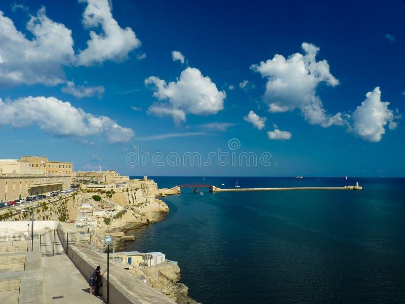 Fortaleza Valletta Malta del St Elmo imágenes de archivo libres de regalías