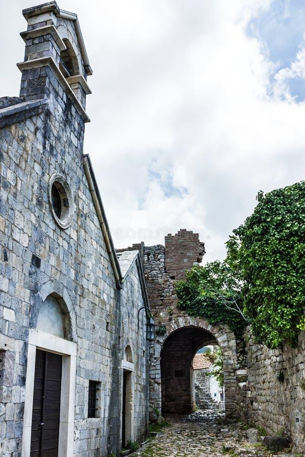 Fortaleza velha da barra, Montenegro fotos de stock