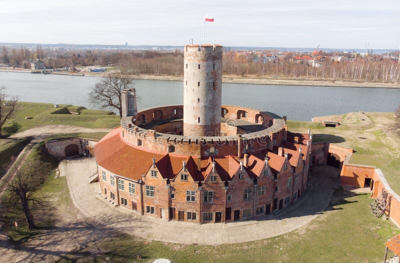 Fortaleza velha Wisloujscie perto de Gdansk foto de stock royalty free