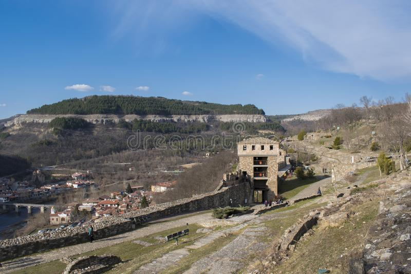 Fortaleza Veliko Tarnovo de Tsarevets imagens de stock