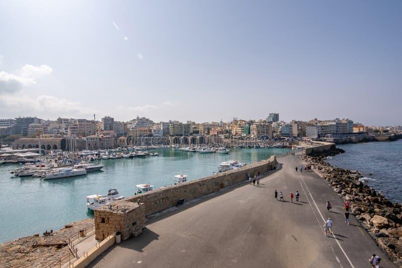 Fortaleza veneciana vieja en la ciudad de Heraklion, Creta de Koules Tapa v imagen de archivo libre de regalías
