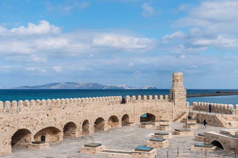 Fortaleza veneciana vieja Koules, Creta, Grecia imágenes de archivo libres de regalías