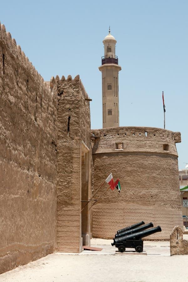 Fortaleza vieja en Dubai fotos de archivo libres de regalías