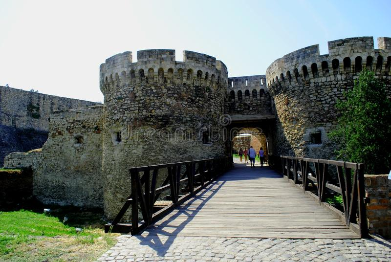 Fortaleza vieja Kalemegdan en Belgrado Serbia fotografía de archivo