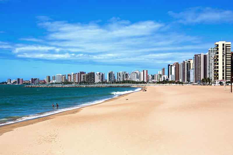 Fortaleza waterkant royalty-vrije stock afbeelding