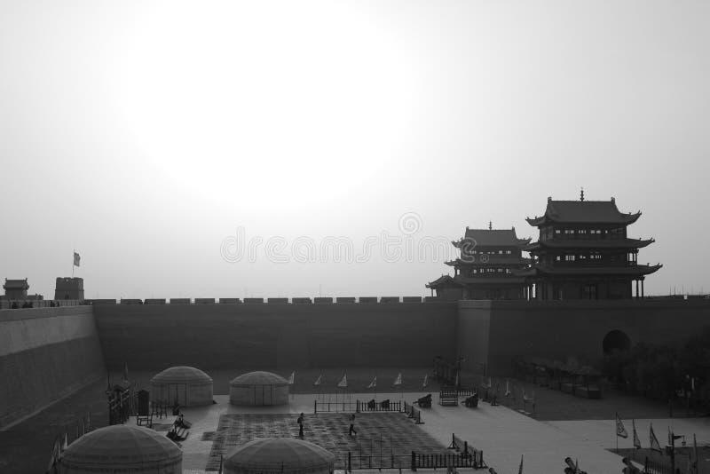 fortaleza y Gran Muralla de jiayuguan fotos de archivo