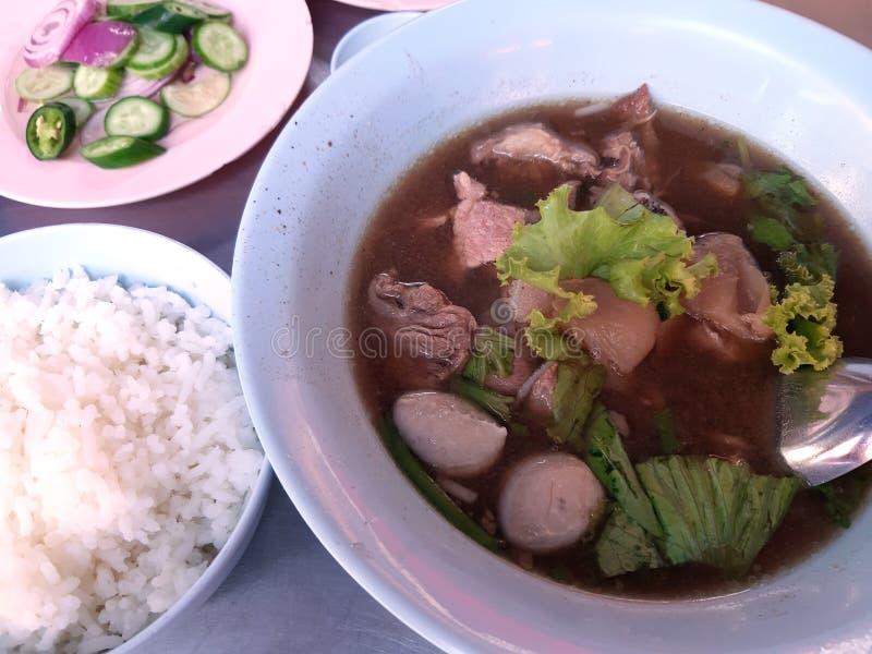 Fortalezca la sopa con arroz imágenes de archivo libres de regalías