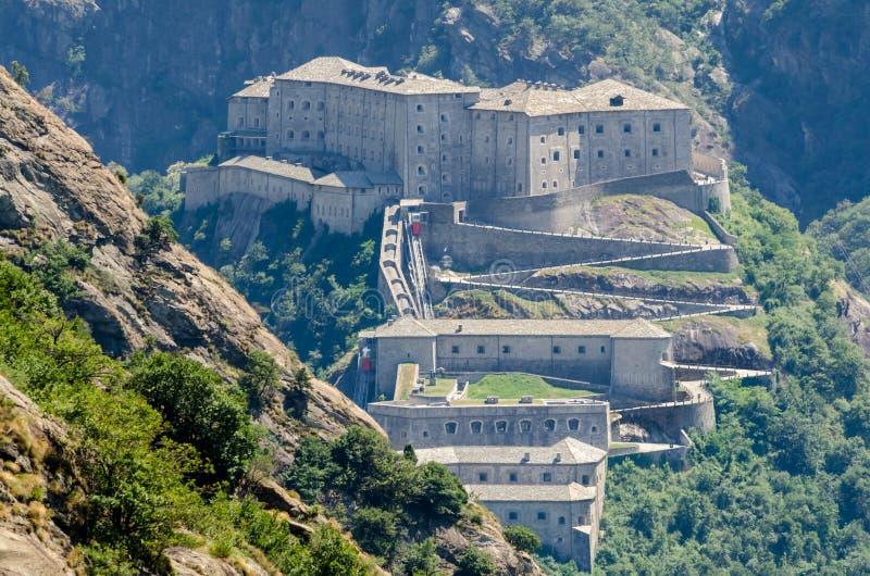 Fortbard, Aosta-Vallei stock afbeelding