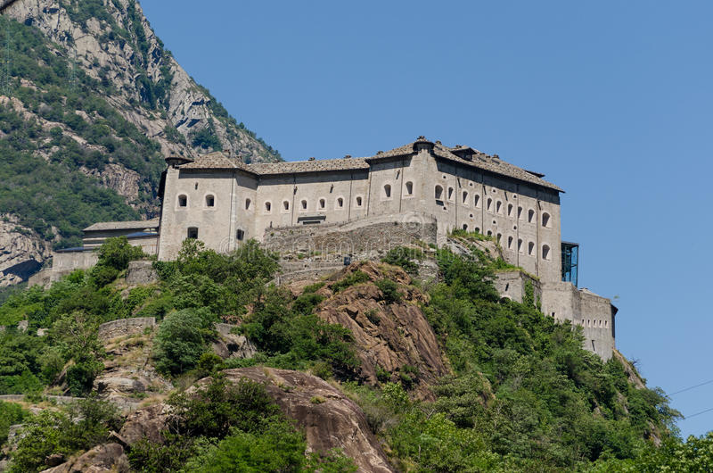 Fortbard, Aosta-Vallei stock foto