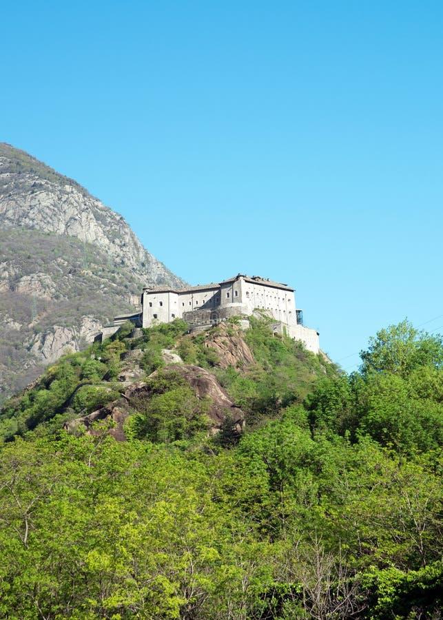 Fortbard, Aosta-Vallei, Italië royalty-vrije stock fotografie