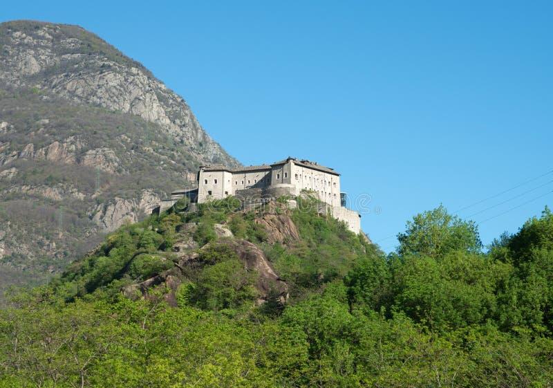 Fortbard, Aosta-Vallei, Italië royalty-vrije stock afbeeldingen