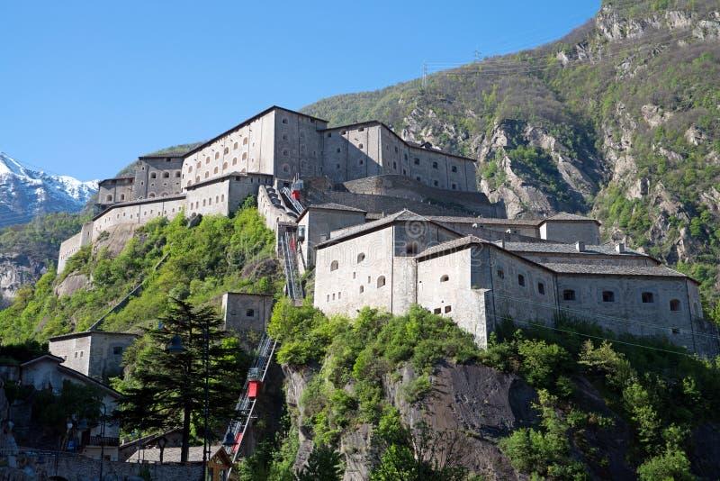 Fortbard, Aosta-Vallei, Italië stock foto