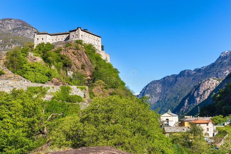 Fortbard, Aosta-Vallei, Italië stock fotografie