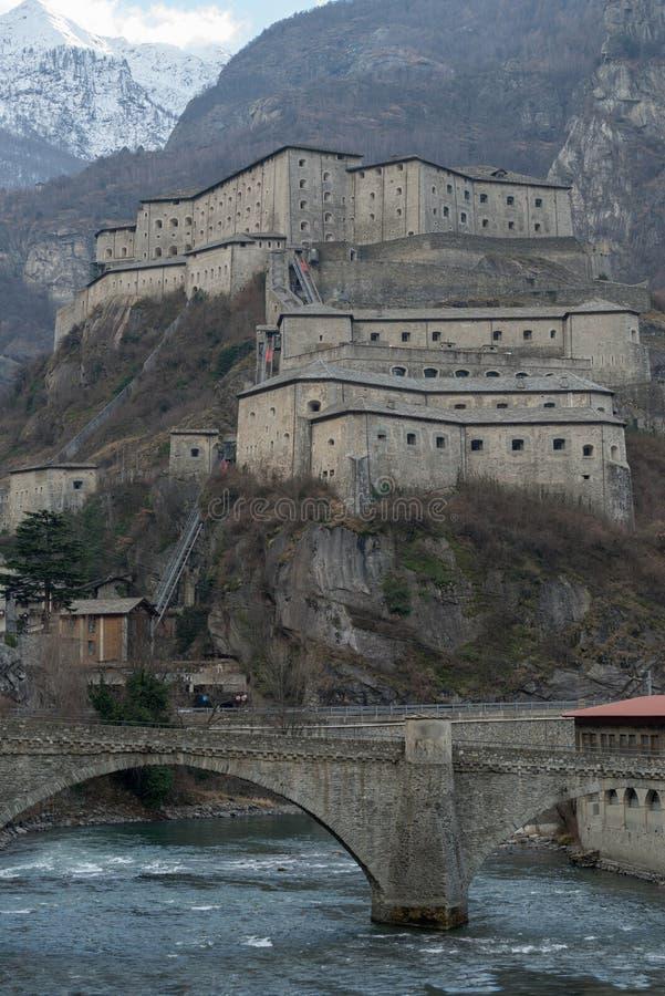 Fortbard, Aosta-valleigebied, Italië royalty-vrije stock fotografie