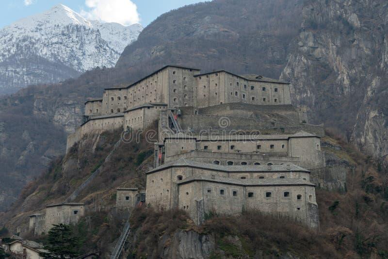 Fortbard, Aosta-valleigebied, Italië royalty-vrije stock afbeeldingen