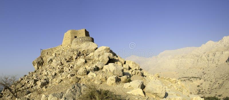 Forte árabe em emirados do árabe de Ras Al Khaimah fotos de stock royalty free