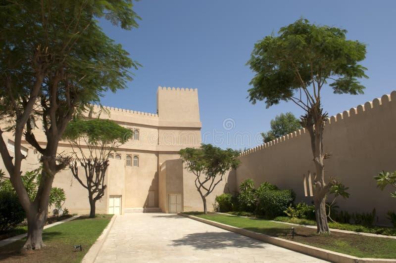 Forte árabe em Ras Al Khaimah Dubai fotografia de stock royalty free