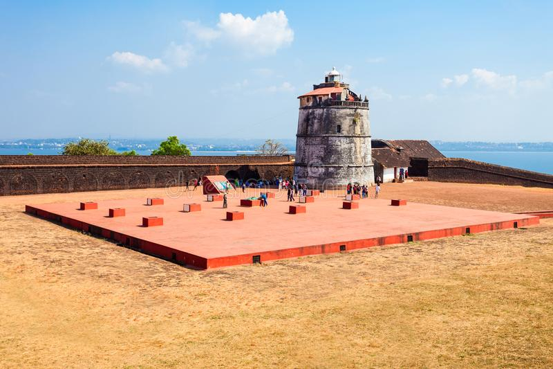 Forte Aguada em Goa fotos de stock royalty free