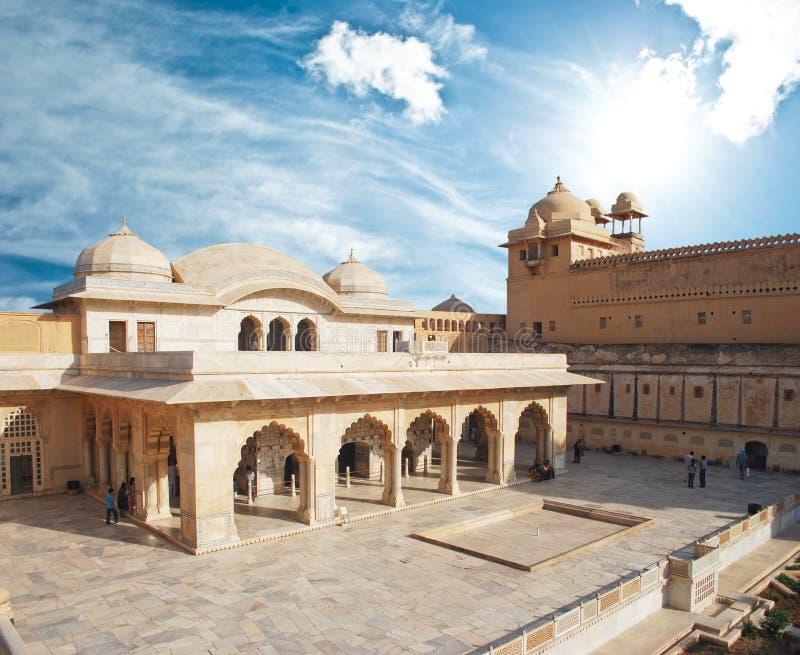 Forte ambarino de Beautifoul perto de Jaipur fotografia de stock royalty free