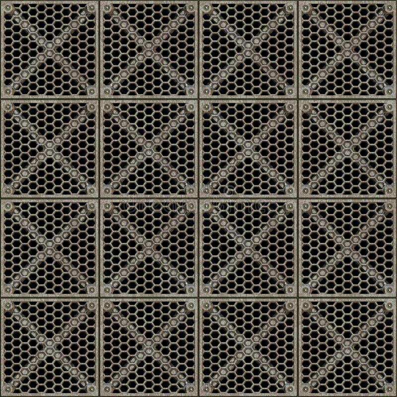 forte barriera d'acciaio del metallo   illustrazione vettoriale