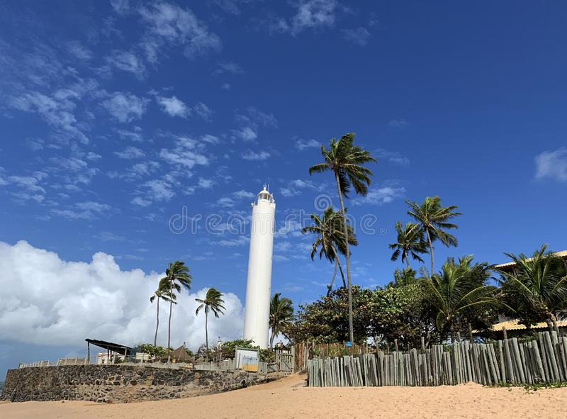 Forte Beach on the north coast of Salvado. Forte Beach- Bahia, Forte Beach on the north coast of Salvador stock photo