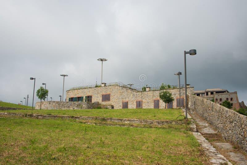 Forte Begato près de la ville de Gênes, Italie image libre de droits