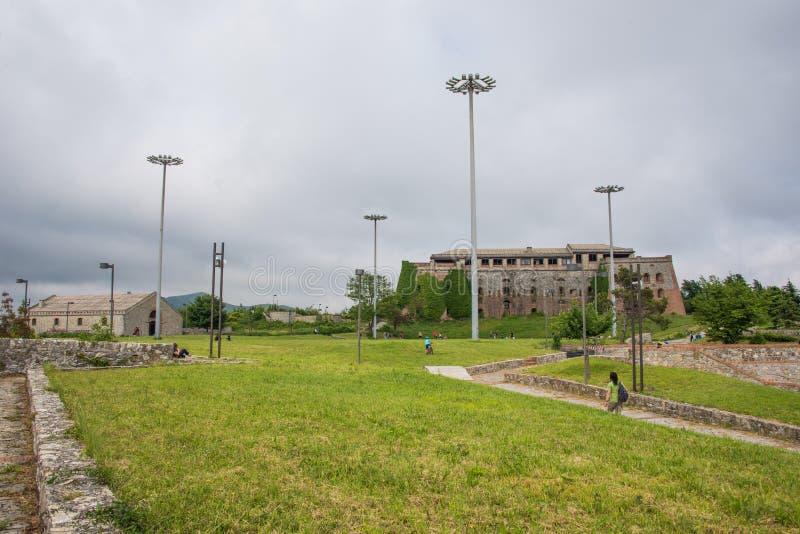 Forte Begato près de la ville de Gênes, Italie photos libres de droits