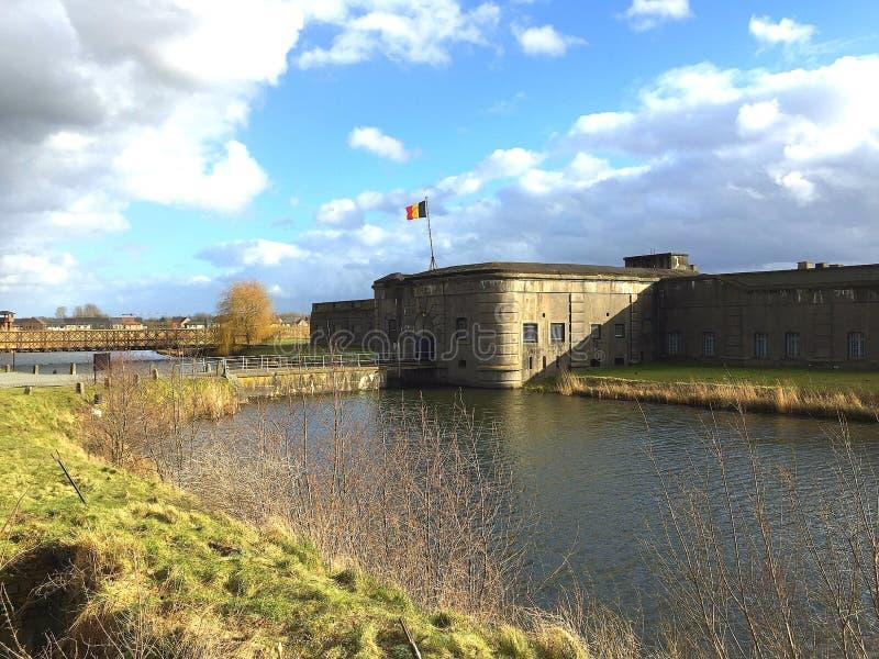 Forte Breendonk (Bélgica) imagens de stock