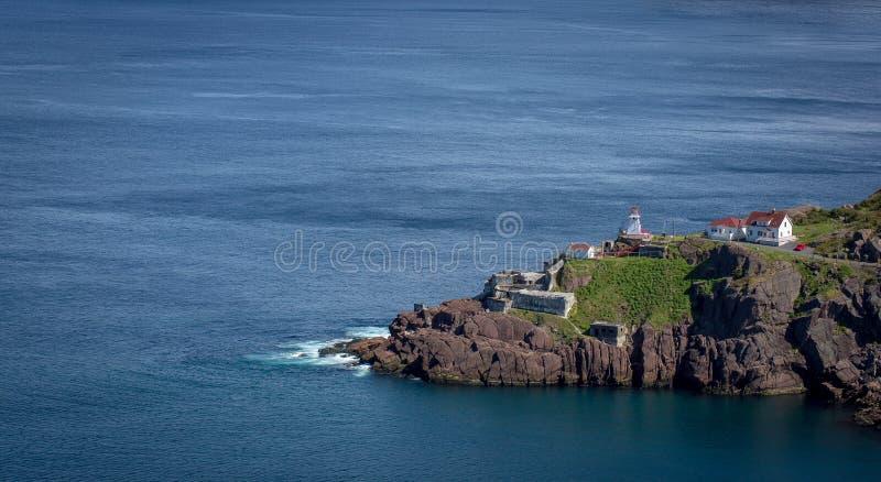 Forte cênico Amherst ao longo da costa de Terra Nova imagem de stock royalty free