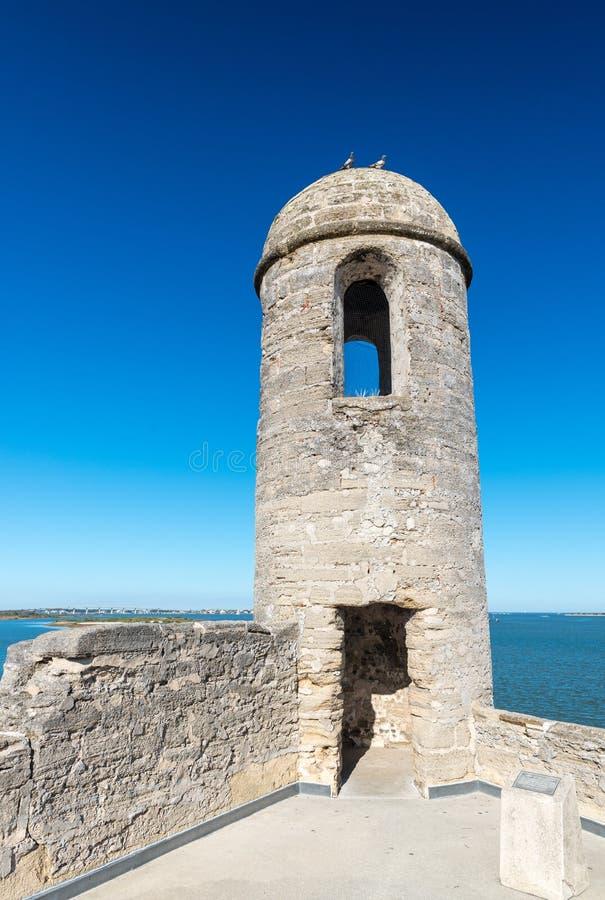 Forte Castillo de San Marcos, St Augustine, Florida, E.U. foto de stock