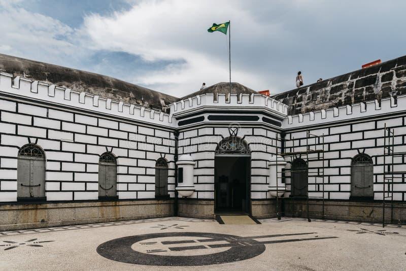 Forte de科帕卡巴纳军事基地,巴西 免版税图库摄影