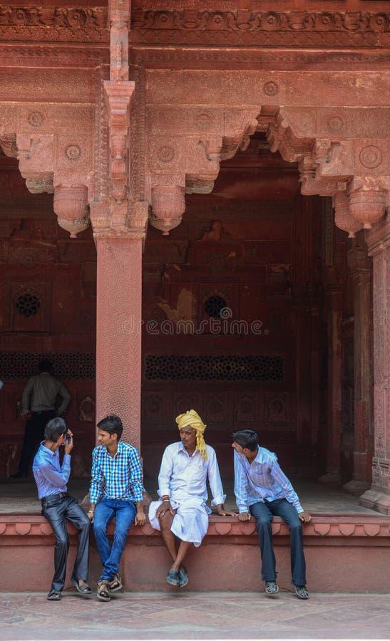 Forte de Agra em Agra, Índia foto de stock