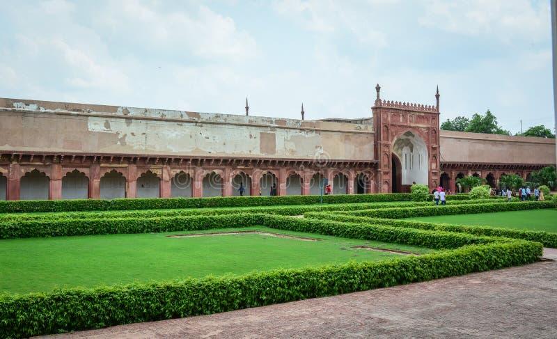 Forte de Agra em Agra, Índia imagens de stock