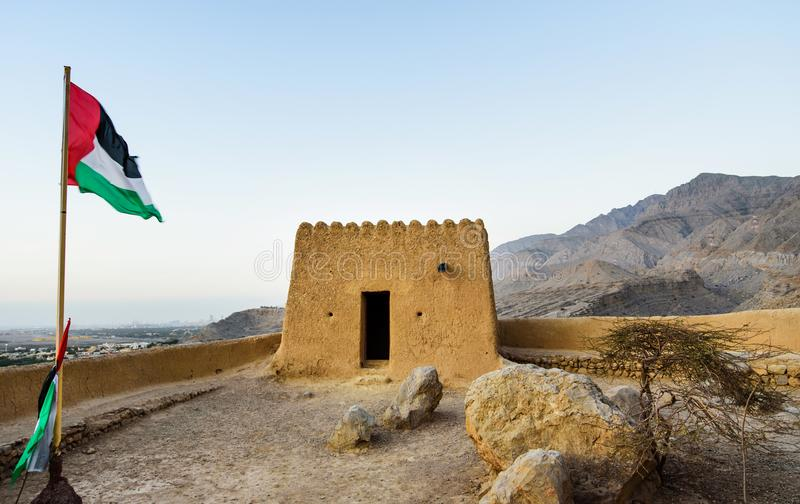 Forte de Dhayah em Ras Al Khaimah United Arab Emirates norte fotografia de stock royalty free