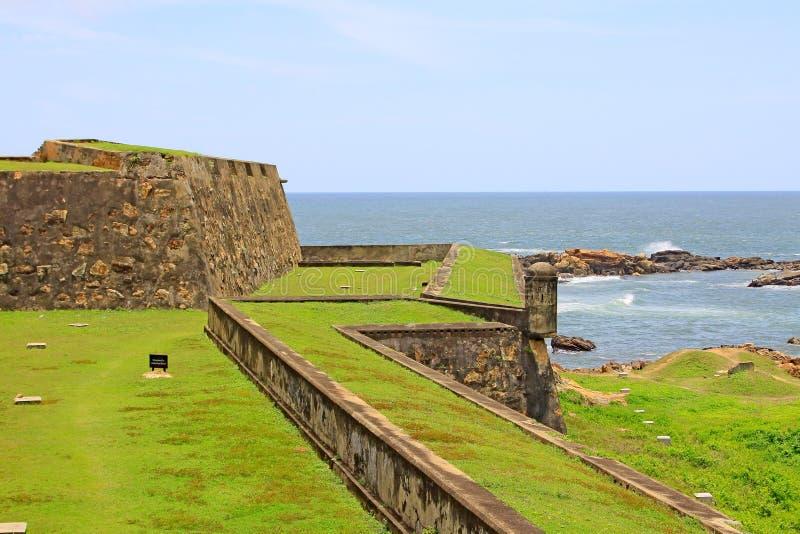 Forte de Galle - patrimônio mundial do UNESCO de Sri Lanka foto de stock royalty free