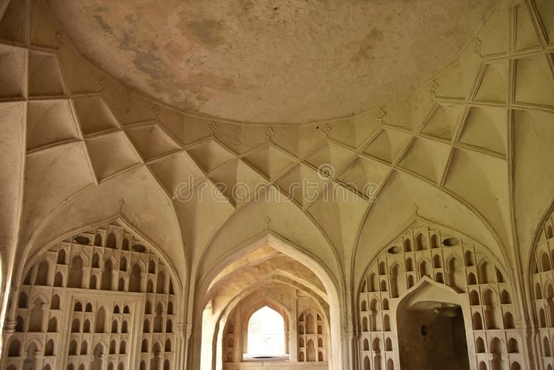 Forte de Golconda, Hyderabad, Índia imagens de stock