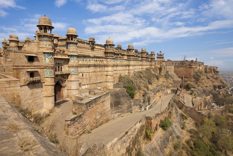 Forte de Gwalior em India. fotos de stock royalty free